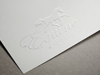 Equine Designs Logo on Paper